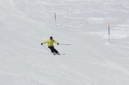 Norwegian member in the slopes