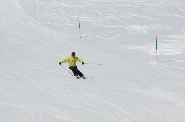 Norwegian member in the slopes