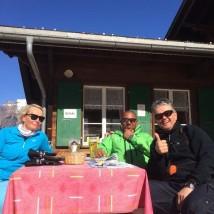 "skibum50plus ""fika"" at Brandegg."