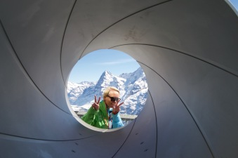skibum50plus at the Bond Museum Schilthorn, Mürren